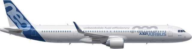 Airbus A321neo with Airbus Cabin Flex (ACF) Configuration