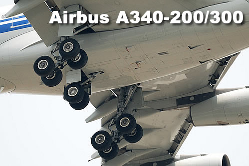Airbus A340-200/300 landing gear comfiguration