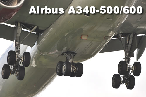 Airbus A340-500/600 landing gear comfiguration
