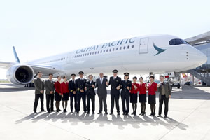 Cathay Pacific takes delivery of its first AIrbus A350-100