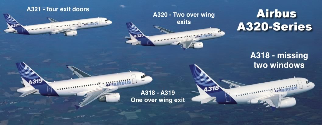 Spotting guide for the Airbus A320 family of jetliners