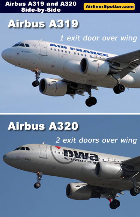 Spotting guide for the Airbus A319 and A320