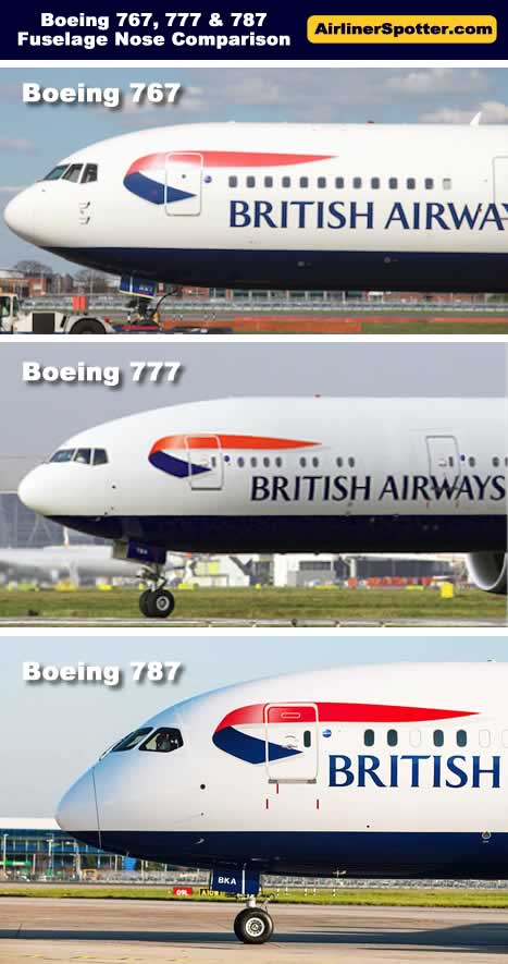 Wheel Size Comparison >> Boeing 777 Spotting Guide, Tips for Airliner Spotters, Photographs and Design Characteristics