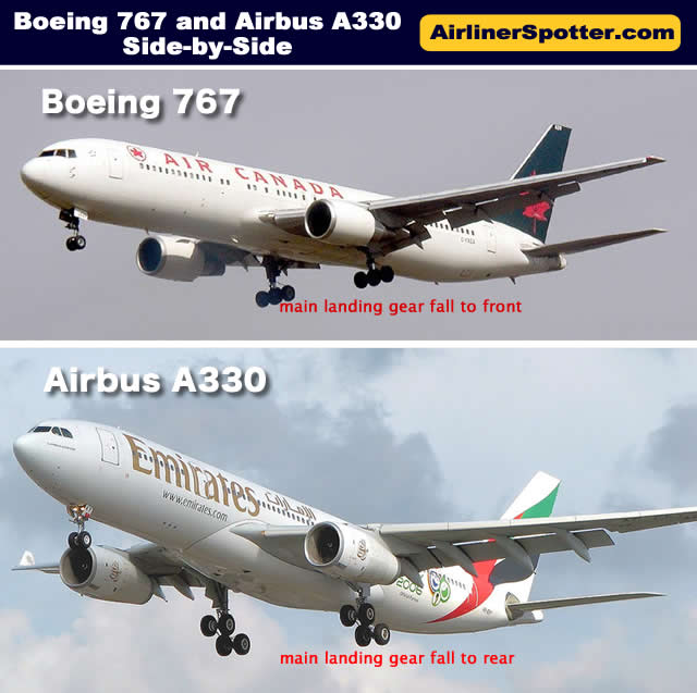 Boeing 767 Spotting Guide, Tips for Airplane Spotters, 767