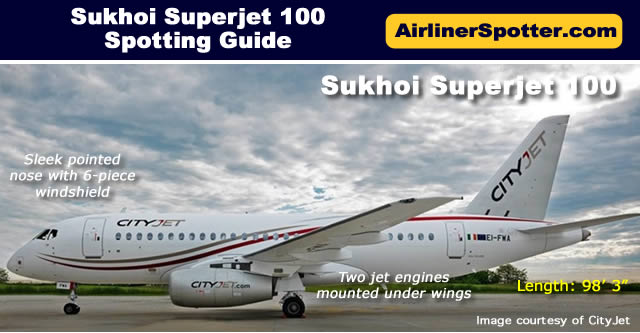 Sukhoi Superjet 100 Spotting Guide