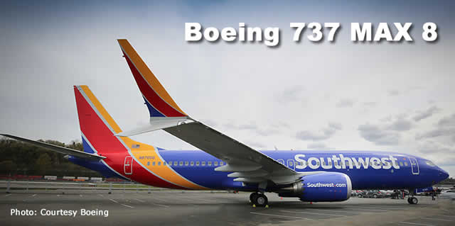 Boeing 737 MAX 8 of Southwest Airlines