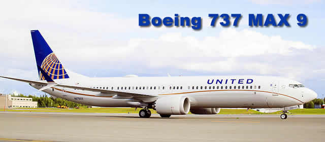 Boeing 737 MAX 9 of United Airlines