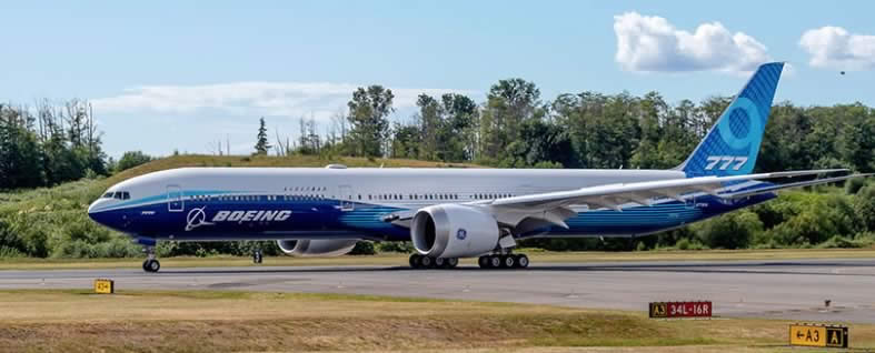 Boeing 777X prepares for first flight on January 25, 2020