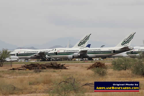 Evergreen International Boeing 747s at the Pinal Airpark in Arizona