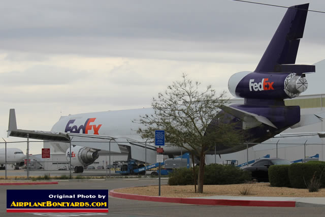 FedEx MD-11F parked at the Southern California Logistics Airport