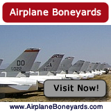 Airplane boneyards after World War II and active boneyards today ... maps, photographs, tours and more ... visit there now!