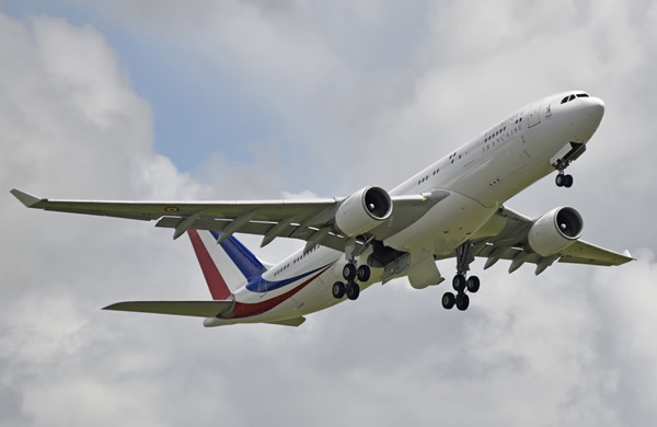 Airbus A330-223, F-RARF, of the French Air Force, for the Presidency of the French Republic