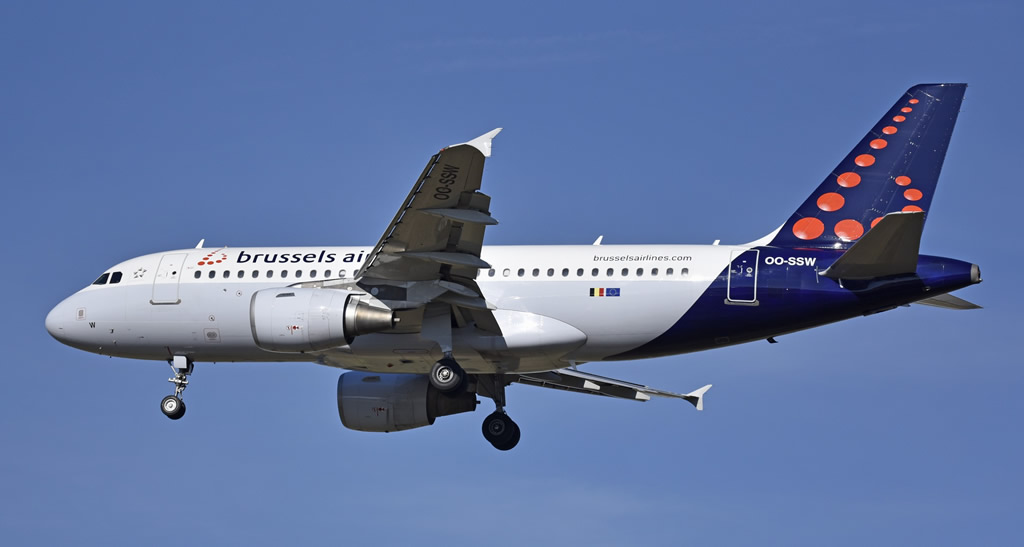 Airbus A319 of Brussels Airlines, Registration OO-SSW