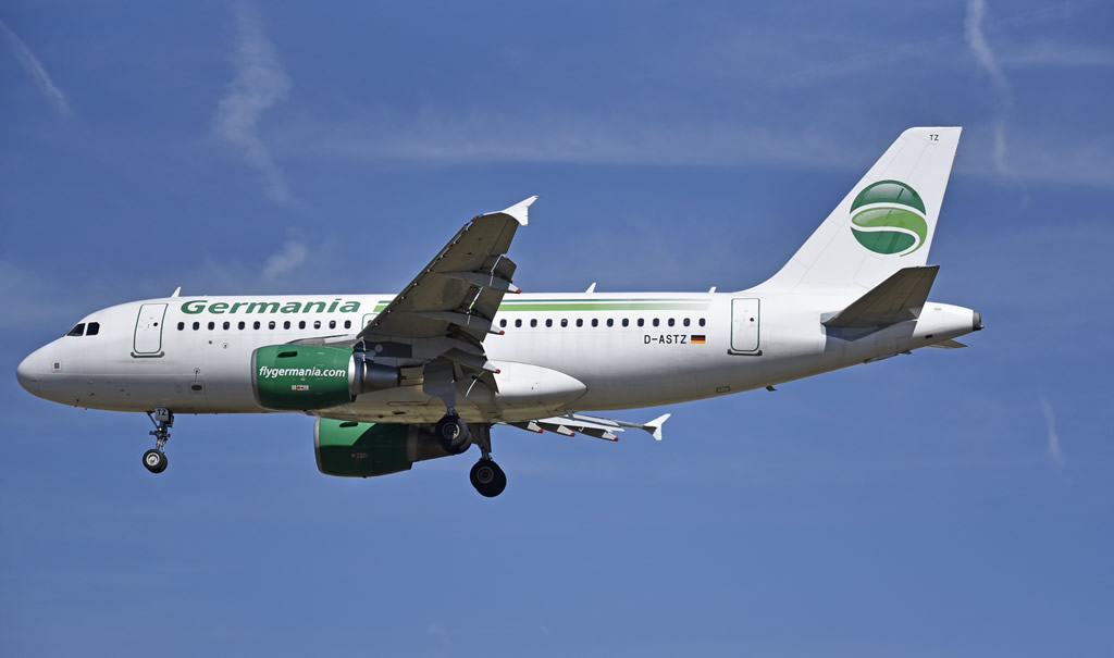 Germania Airbus A319, Registration D-ASTZ