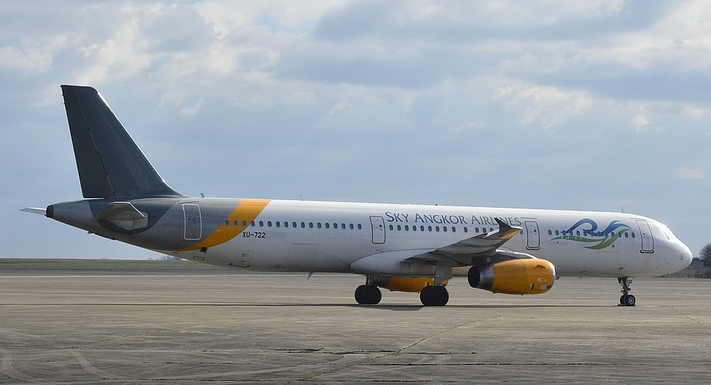 Airbus A321 XU-722 of Sky Angkor Airlines