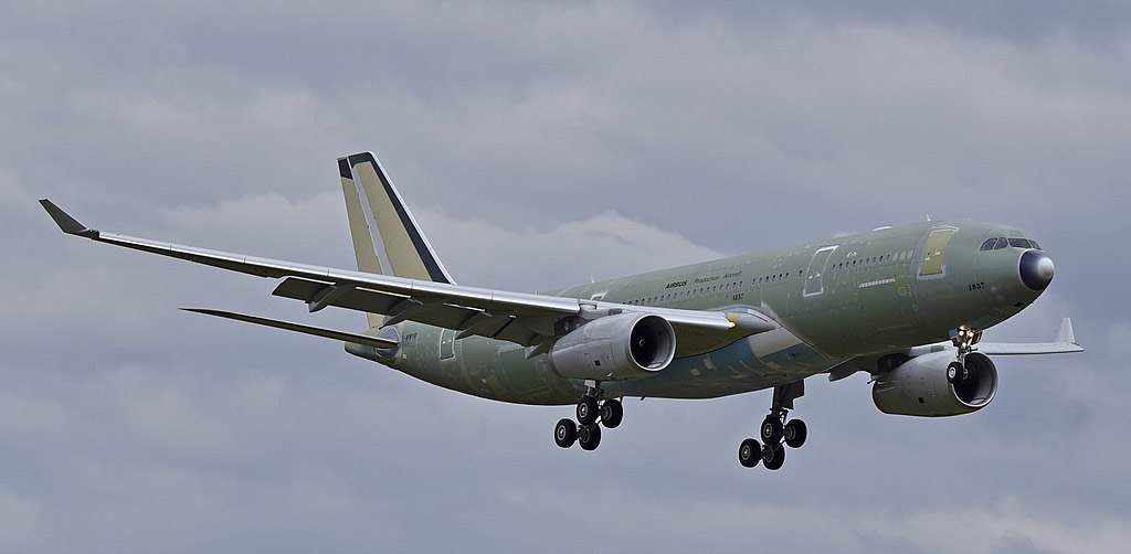 Future A330 MRTT, MSN 1857, for Singapore Air Force, Registration EC-335, arriving for anti-corrosion paint in 2018