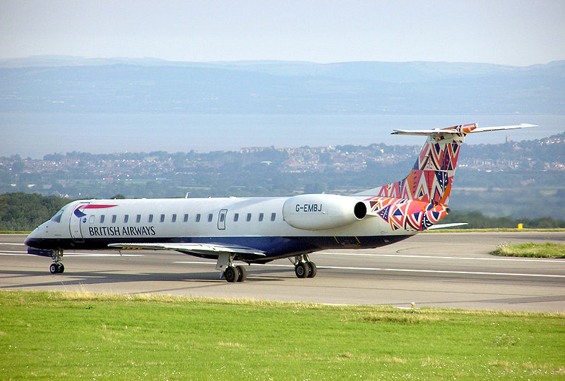 British Airways Embraer ERJ-145 regional jet