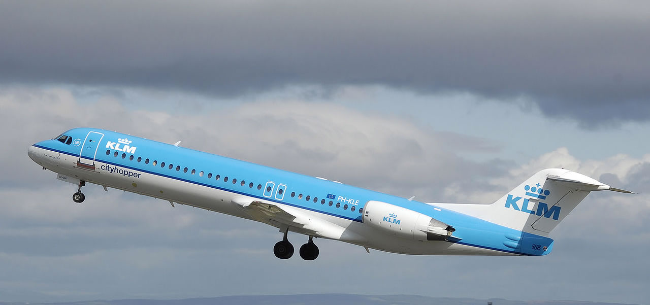 Fokker 100 of KLM CityHopper
