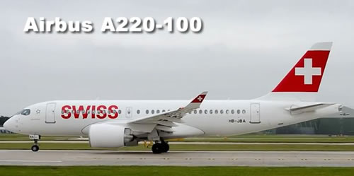 Swiss Air Airbus A220-100