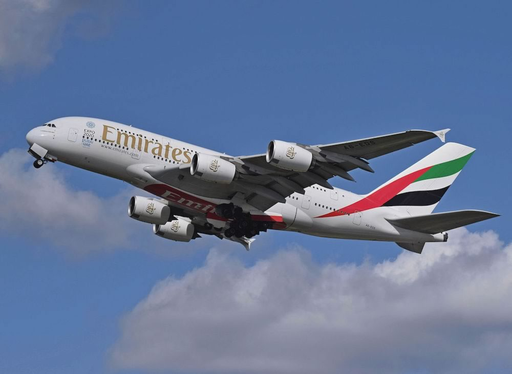 The Airbus A380 is also an easy spot, four engines, with its two passenger decks extending the length of the fuselage