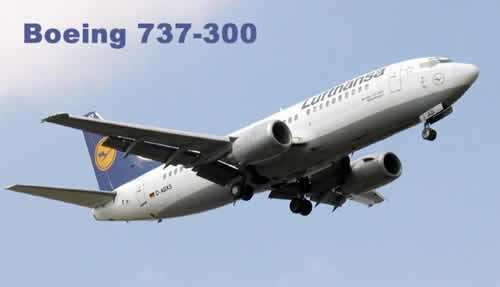 Boeing 737-330 of Lufthansa, Registration Number D-ABXS