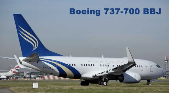Royal Jet Boeing 737-700 BBJ - Boeing Business Jet, registered in the United Arab Emirates at A6-RJZ