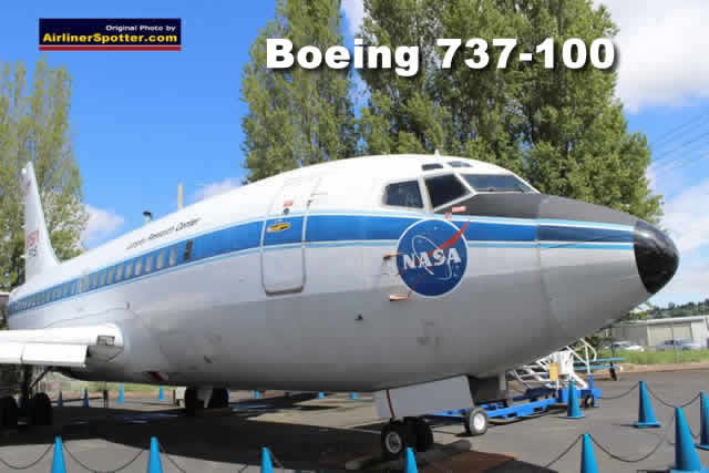 Boeing 737-130, the first production 737, is on display at the Museum of Flight in Seattle, Washington