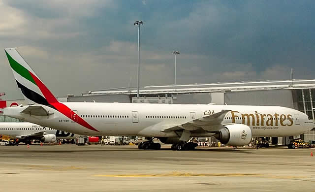 Emirates Boeing 777-300ER Registration A6-EBT