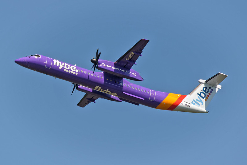 Flybe Bombardier Dash8 Q400, Registration G-JECM